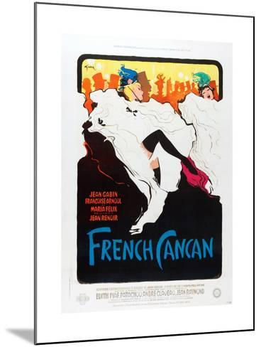 French Can Can, poster art, 1955--Mounted Art Print