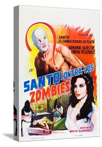 Santo Contra los Zombies (aka Invasion of the Zombies)--Stretched Canvas Print