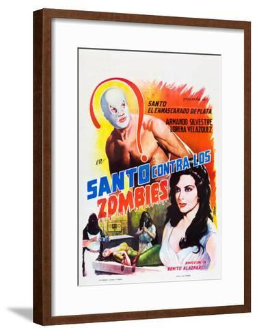 Santo Contra los Zombies (aka Invasion of the Zombies)--Framed Art Print