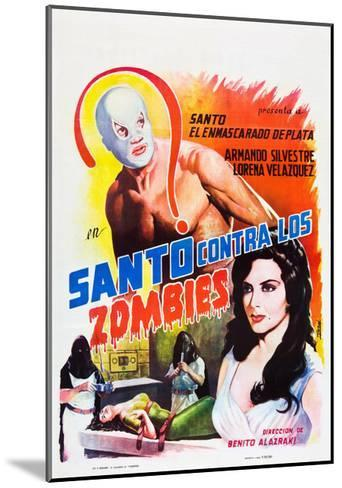 Santo Contra los Zombies (aka Invasion of the Zombies)--Mounted Art Print