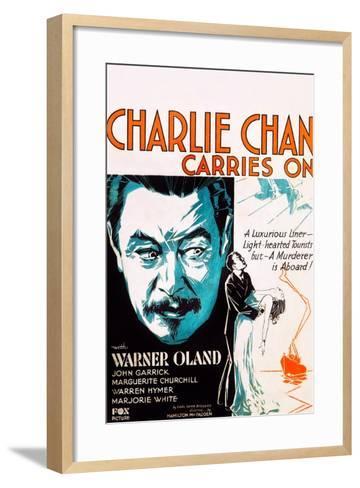 Charlie Chan Carries On--Framed Art Print