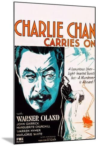 Charlie Chan Carries On--Mounted Art Print