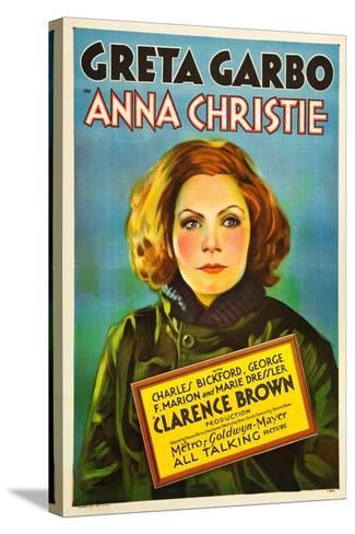 Anna Christie, Greta Garbo, 1930--Stretched Canvas Print