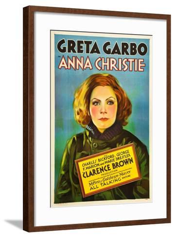 Anna Christie, Greta Garbo, 1930--Framed Art Print