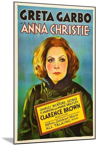 Anna Christie, Greta Garbo, 1930--Mounted Art Print