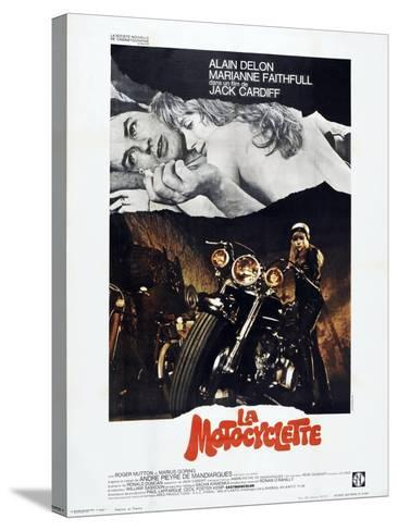 THE GIRL ON A MOTORCYCLE (aka LA MOTOCYCLETTE)--Stretched Canvas Print