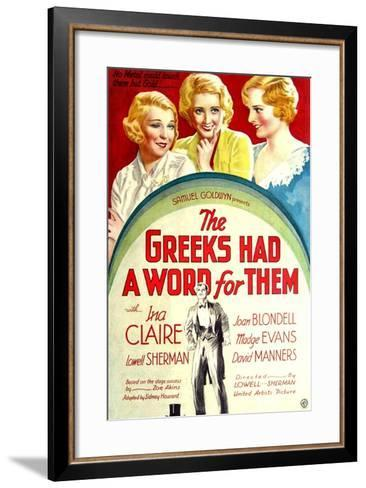 THE GREEKS HAD A WORD FOR THEM, from left: Ina Claire, Joan Blondell, Madge Evans, 1932--Framed Art Print