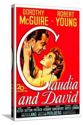 Claudia And David--Stretched Canvas Print