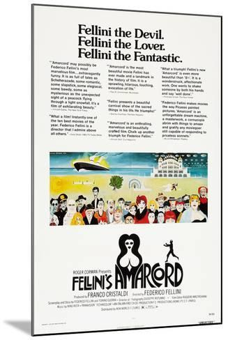 Amarcord, US poster, 1973--Mounted Art Print