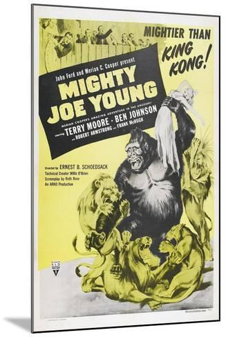 MIGHTY JOE YOUNG, US poster, Terry Moore, Mighty Joe Young, 1949--Mounted Art Print