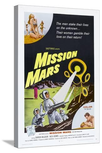 MISSION MARS, US poster, bottom right: Nick Adams, Heather Hewitt, 1968--Stretched Canvas Print