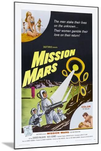 MISSION MARS, US poster, bottom right: Nick Adams, Heather Hewitt, 1968--Mounted Art Print