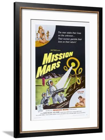 MISSION MARS, US poster, bottom right: Nick Adams, Heather Hewitt, 1968--Framed Art Print