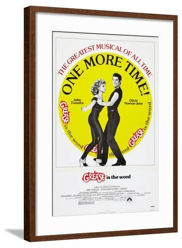 Grease, Olivia Newton-John, John Travolta, 1978, © Paramount/courtesy Everett Collection--Framed Art Print