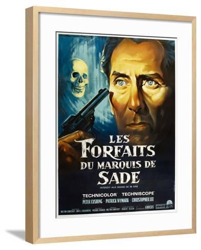 The Skull, French poster, Peter Cushing, 1965--Framed Art Print