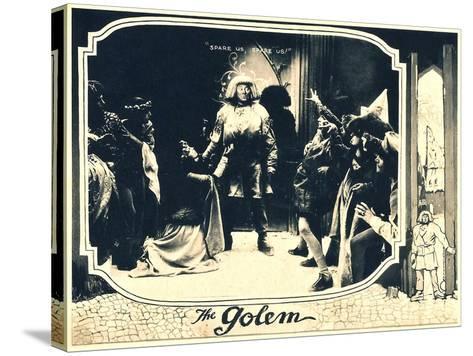 THE GOLEM (aka DER GOLEM, WIE ER IN DIE WELT KAM), center: Paul Wegener, 1920.--Stretched Canvas Print
