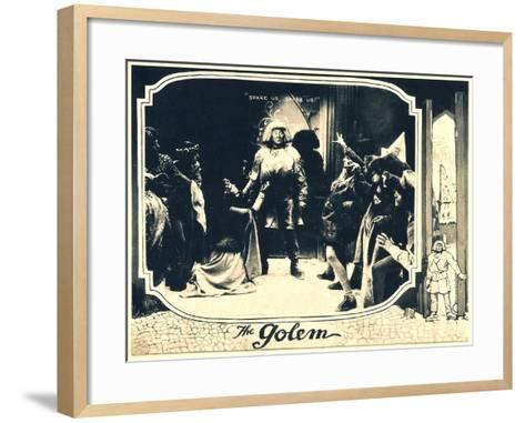 THE GOLEM (aka DER GOLEM, WIE ER IN DIE WELT KAM), center: Paul Wegener, 1920.--Framed Art Print