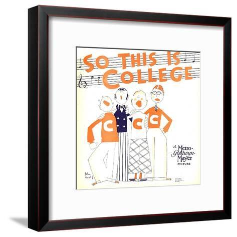 SO THIS IS COLLEGE, window card, 1929.--Framed Art Print