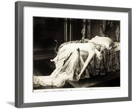 Frankenstein, Mae Clarke on lobbycard, 1931--Framed Art Print