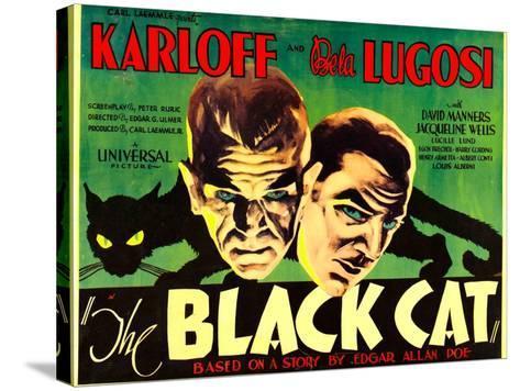 The Black Cat, Boris Karloff, Bela Lugosi, 1934--Stretched Canvas Print
