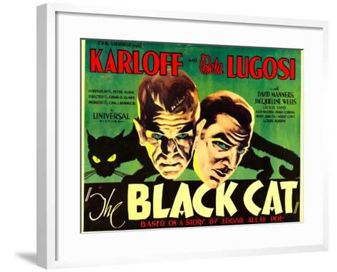 The Black Cat, Boris Karloff, Bela Lugosi, 1934--Framed Art Print