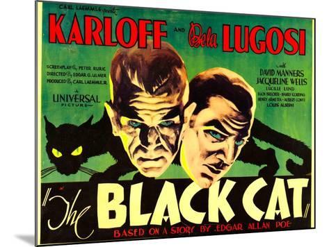 The Black Cat, Boris Karloff, Bela Lugosi, 1934--Mounted Art Print