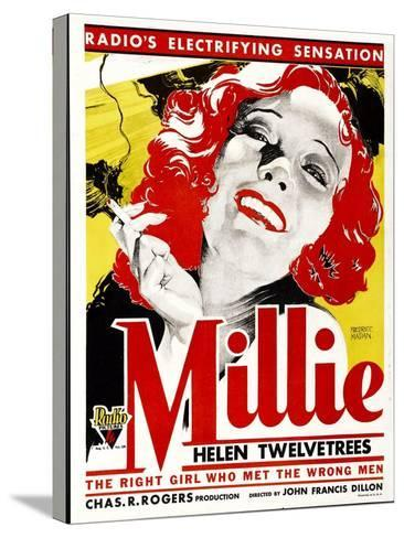 MILLIE, Helen Twelvetrees on window card, 1931.--Stretched Canvas Print