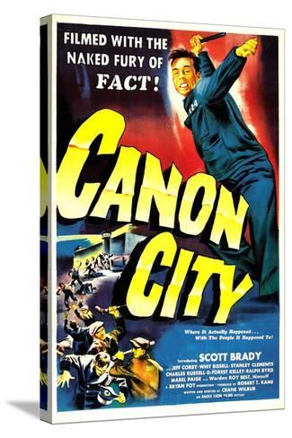 CANON CITY, US poster, Scott Brady, 1948--Stretched Canvas Print