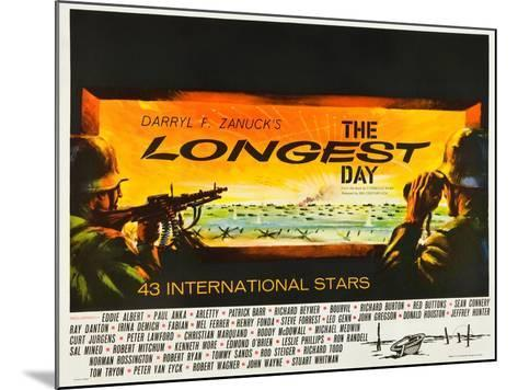 THE LONGEST DAY--Mounted Art Print