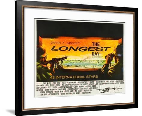 THE LONGEST DAY--Framed Art Print