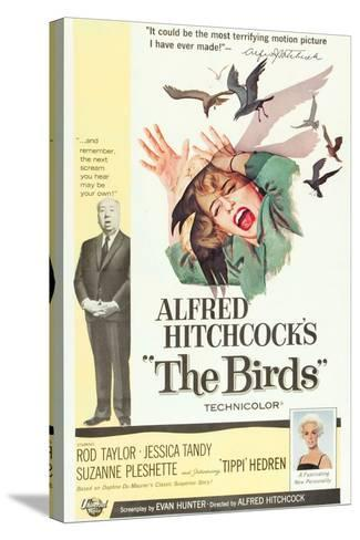 The Birds, Alfred Hitchcock, Jessica Tandy, Tippi Hedren, 1963--Stretched Canvas Print