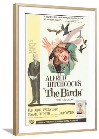 The Birds, Alfred Hitchcock, Jessica Tandy, Tippi Hedren, 1963--Framed Art Print