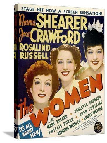 The Women, Joan Crawford, Norma Shearer, Rosalind Russell, 1939--Stretched Canvas Print