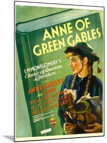 Anne of Green Gables, Anne Shirley, 1934--Mounted Art Print