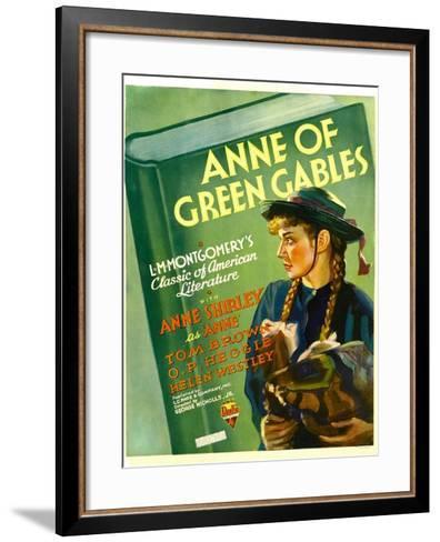 Anne of Green Gables, Anne Shirley, 1934--Framed Art Print