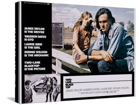 Two-Lane Blacktop, Laurie Bird, James Taylor, 1971--Stretched Canvas Print