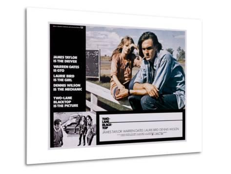 Two-Lane Blacktop, Laurie Bird, James Taylor, 1971--Metal Print