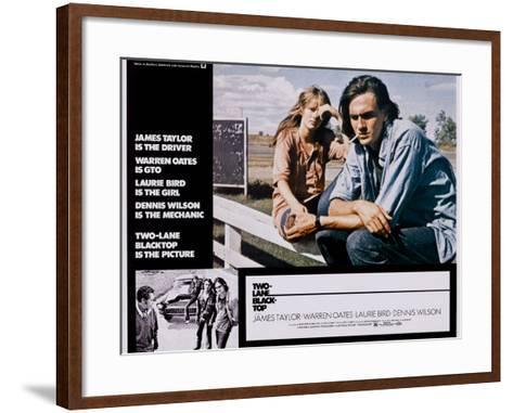 Two-Lane Blacktop, Laurie Bird, James Taylor, 1971--Framed Art Print