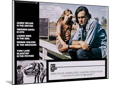 Two-Lane Blacktop, Laurie Bird, James Taylor, 1971--Mounted Art Print