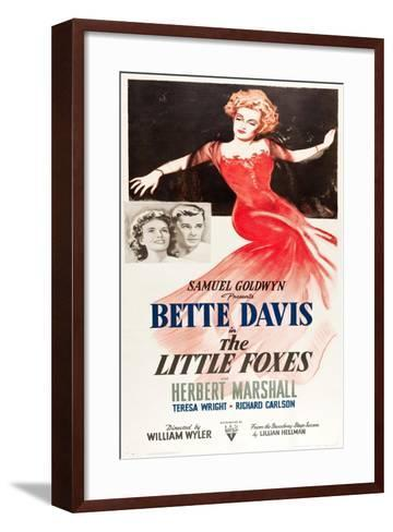 THE LITTLE FOXES, l-r: Teresa Wright, Herbert Marshall, Bette Davis on poster art, 1941--Framed Art Print