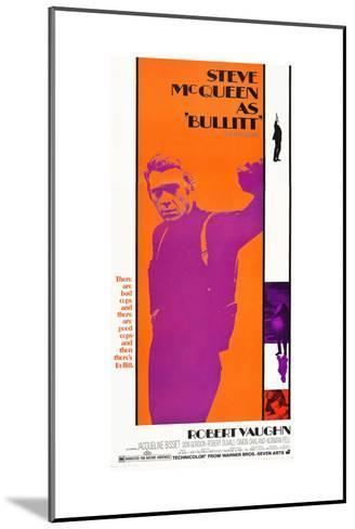 Bullitt, Steve McQueen, 1968--Mounted Art Print
