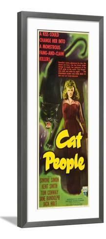 Cat People, Simone Simon, 1942--Framed Art Print