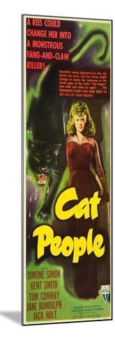 Cat People, Simone Simon, 1942--Mounted Art Print
