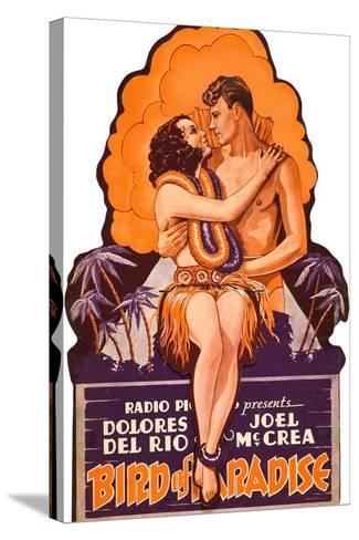 Bird of Paradise, Dolores Del Rio, Joel McCrea on die cut display, 1932--Stretched Canvas Print