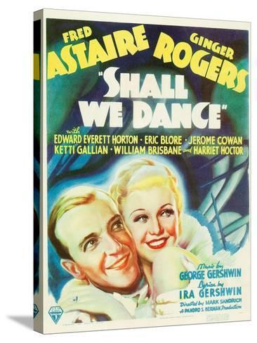 Shall We Dance?, Fred Astaire, Ginger Rogers, 1937--Stretched Canvas Print