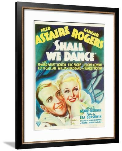 Shall We Dance?, Fred Astaire, Ginger Rogers, 1937--Framed Art Print