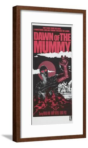 Dawn of the Mummy, Australian poster art, 1981--Framed Art Print