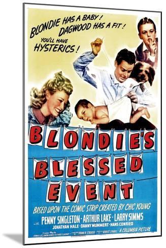 Blondie's Blessed Event, Penny Singleton, Arthur Lake, Daisy, Larry Simms, 1942--Mounted Art Print