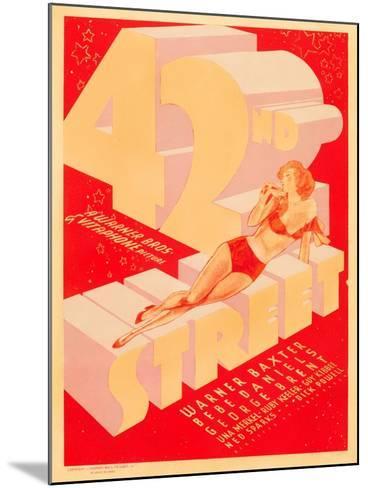 42nd Street, 1933--Mounted Art Print