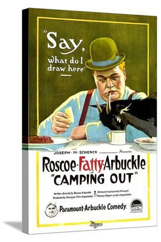 Camping Out, Roscoe 'Fatty' Arbuckle, 1919--Stretched Canvas Print
